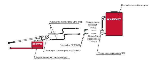 Гидравлическая система с одним